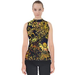 Amazing Neon Flowers B Shell Top