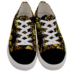 Amazing Neon Flowers B Women s Low Top Canvas Sneakers