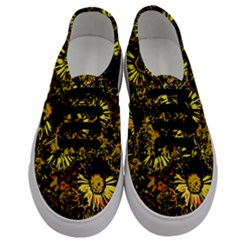 Amazing Neon Flowers B Men s Classic Low Top Sneakers