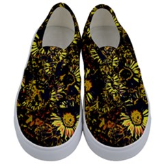 Amazing Neon Flowers B Kids  Classic Low Top Sneakers