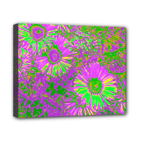 Amazing Neon Flowers A Canvas 10  X 8