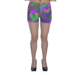 Amazing Neon Flowers A Skinny Shorts