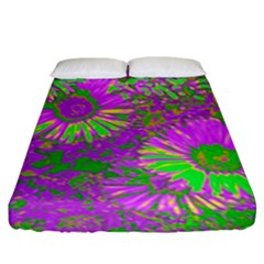 Amazing Neon Flowers A Fitted Sheet (king Size)
