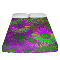 Amazing Neon Flowers A Fitted Sheet (california King Size)