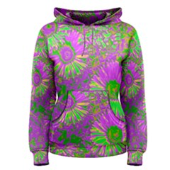 Amazing Neon Flowers A Women s Pullover Hoodie