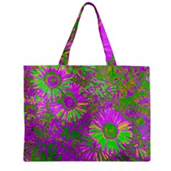 Amazing Neon Flowers A Zipper Mini Tote Bag