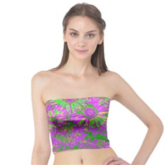 Amazing Neon Flowers A Tube Top