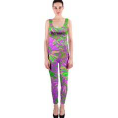 Amazing Neon Flowers A Onepiece Catsuit