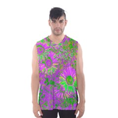 Amazing Neon Flowers A Men s Basketball Tank Top
