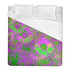 Amazing Neon Flowers A Duvet Cover (full/ Double Size)