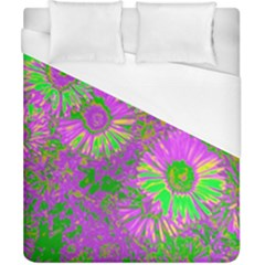 Amazing Neon Flowers A Duvet Cover (california King Size)