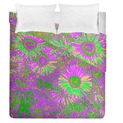 Amazing Neon Flowers A Duvet Cover Double Side (queen Size)