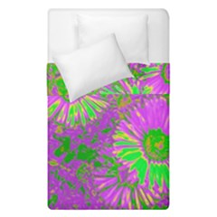 Amazing Neon Flowers A Duvet Cover Double Side (single Size)