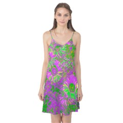 Amazing Neon Flowers A Camis Nightgown