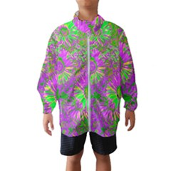 Amazing Neon Flowers A Wind Breaker (kids)