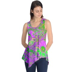 Amazing Neon Flowers A Sleeveless Tunic