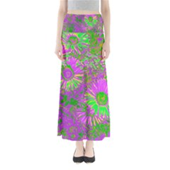Amazing Neon Flowers A Full Length Maxi Skirt