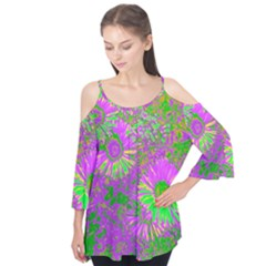 Amazing Neon Flowers A Flutter Tees