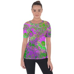 Amazing Neon Flowers A Short Sleeve Top