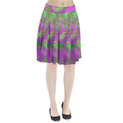 Amazing Neon Flowers A Pleated Skirt