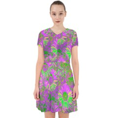 Amazing Neon Flowers A Adorable In Chiffon Dress