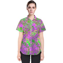 Amazing Neon Flowers A Women s Short Sleeve Shirt