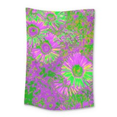Amazing Neon Flowers A Small Tapestry