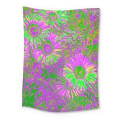 Amazing Neon Flowers A Medium Tapestry