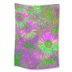Amazing Neon Flowers A Large Tapestry
