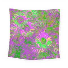 Amazing Neon Flowers A Square Tapestry (small)
