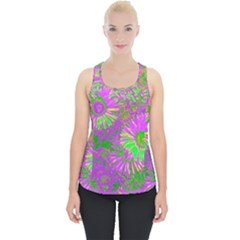 Amazing Neon Flowers A Piece Up Tank Top