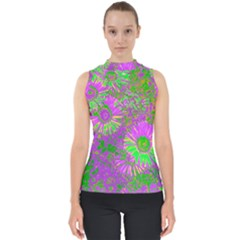Amazing Neon Flowers A Shell Top