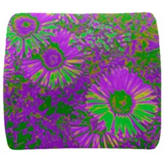 Amazing Neon Flowers A Back Support Cushion