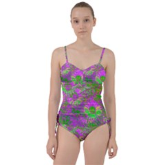 Amazing Neon Flowers A Sweetheart Tankini Set