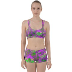 Amazing Neon Flowers A Women s Sports Set