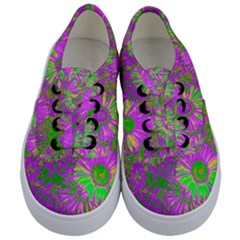 Amazing Neon Flowers A Kids  Classic Low Top Sneakers
