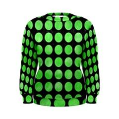 Circles1 Black Marble & Green Watercolor Women s Sweatshirt