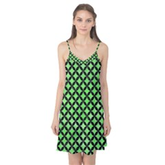 Circles3 Black Marble & Green Watercolor (r) Camis Nightgown