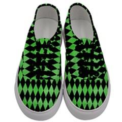 Diamond1 Black Marble & Green Watercolor Men s Classic Low Top Sneakers