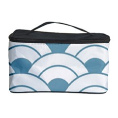 Art Deco,shell Pattern,teal,white Cosmetic Storage Case