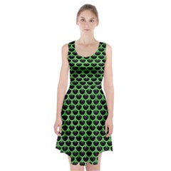 Scales3 Black Marble & Green Watercolor Racerback Midi Dress