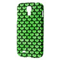 SCALES3 BLACK MARBLE & GREEN WATERCOLOR (R) Samsung Galaxy S4 I9500/I9505 Hardshell Case View3