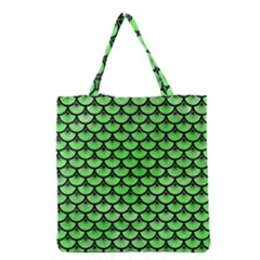 Scales3 Black Marble & Green Watercolor (r) Grocery Tote Bag