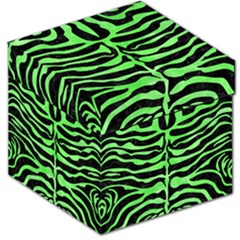 Skin2 Black Marble & Green Watercolor Storage Stool 12