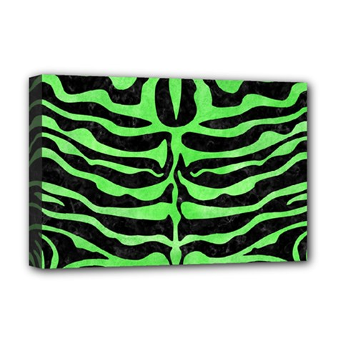 Skin2 Black Marble & Green Watercolor Deluxe Canvas 18  X 12