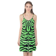 Skin2 Black Marble & Green Watercolor (r) Camis Nightgown