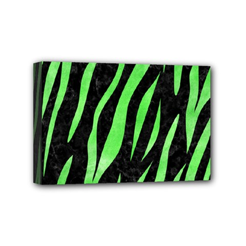 Skin3 Black Marble & Green Watercolor Mini Canvas 6  X 4