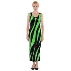 Skin3 Black Marble & Green Watercolor Fitted Maxi Dress