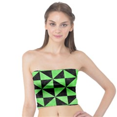 Triangle1 Black Marble & Green Watercolor Tube Top
