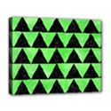 TRIANGLE2 BLACK MARBLE & GREEN WATERCOLOR Deluxe Canvas 20  x 16   View1